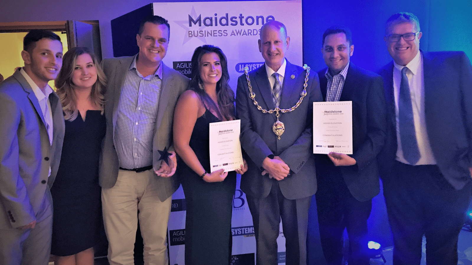 Higher Elevation Ltd Maidstone Business Awards