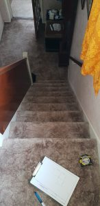 Curved stairlift installation Cowan Maidstone Kent 5