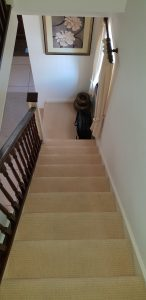 Curved stairlift installation Woodger Maidstone Kent 4