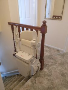 Straight stairlift installation Weeks Maidstone Kent 1