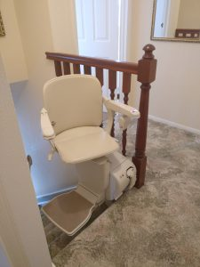 Straight stairlift installation Weeks Maidstone Kent 2