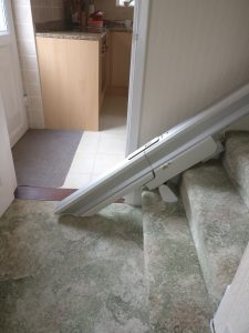 Straight stairlift installation Weeks Maidstone Kent 3