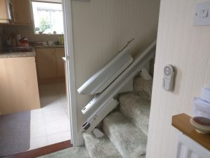 Straight stairlift installation Weeks Maidstone Kent 4