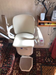 Curved stairlift installation Sunnucks Maidstone Kent 1