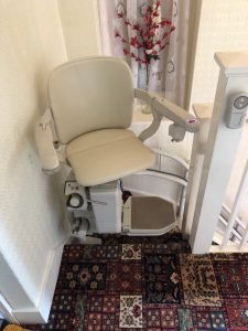 Curved stairlift installation Sunnucks Maidstone Kent 2