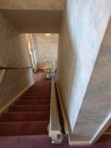 Straight stairlift installation Snowden Maidstone Kent 2