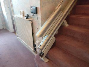 Straight stairlift installation Snowden Maidstone Kent 4