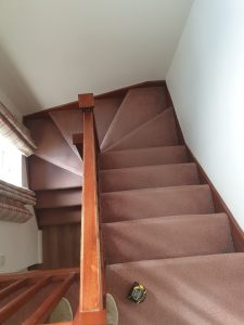 Curved stairlift installation Hall Maidstone Kent 5