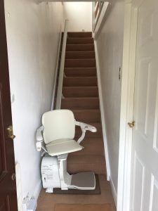 Straight stairlift installation Davey Maidstone Kent 5