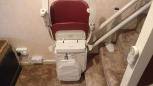 Curved stairlift installation Cowan Maidstone Kent 1