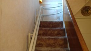 Curved stairlift installation Cowan Maidstone Kent 2