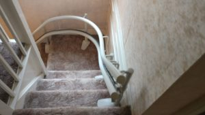 Curved stairlift installation Cowan Maidstone Kent 3