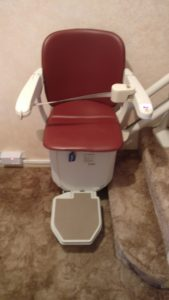 Curved stairlift installation Cowan Maidstone Kent 4