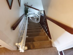 Curved stairlift installation Nicholson Maidstone Kent 1
