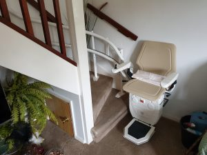 Curved stairlift installation Nicholson Maidstone Kent 3