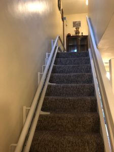 Curved stairlift installation Simmons Maidstone Kent 2