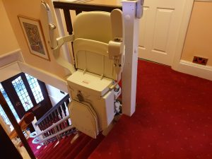 Curved stairlift installation Vokes Maidstone Kent 10