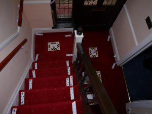 Curved stairlift installation Vokes Maidstone Kent 2