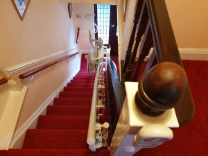 Curved stairlift installation Vokes Maidstone Kent 5