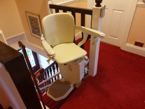 Curved stairlift installation Vokes Maidstone Kent 6