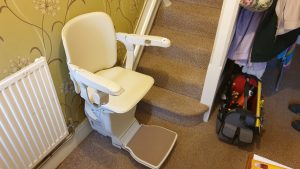 Reconditioned Straight Stairlift Installation Rochester Kent