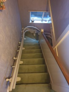 Curved Stairlift Stannah 260 installation Gravesend